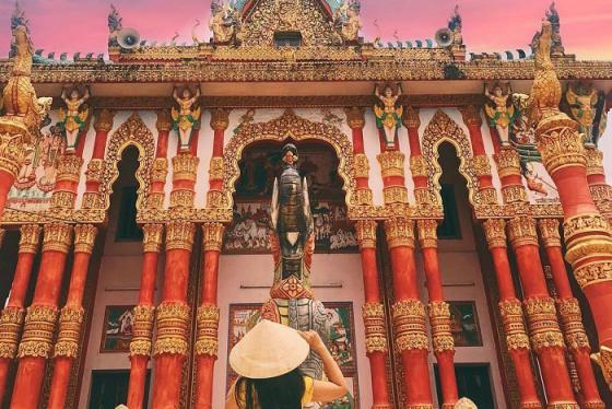 Đầu năm vãn cảnh chùa Ghositaram Bạc Liêu tuyệt đẹp ở miền Tây