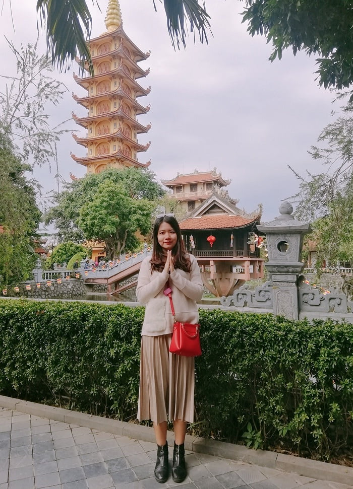 9-storey tower - the most outstanding work of Pho Chieu pagoda