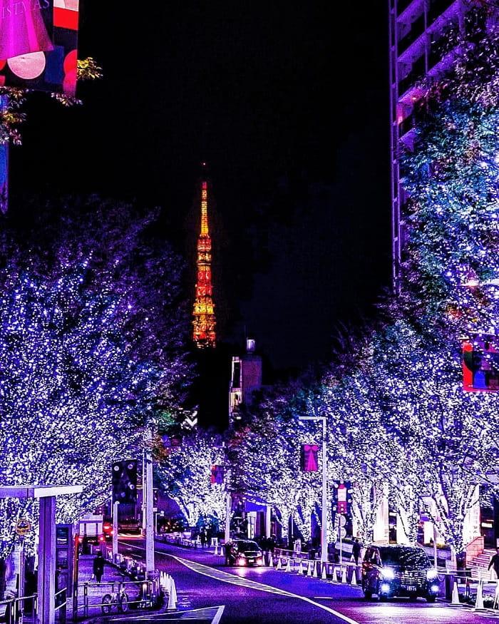 trải nghiệm mùa đông Nhật Bản - lễ hội Roppongi