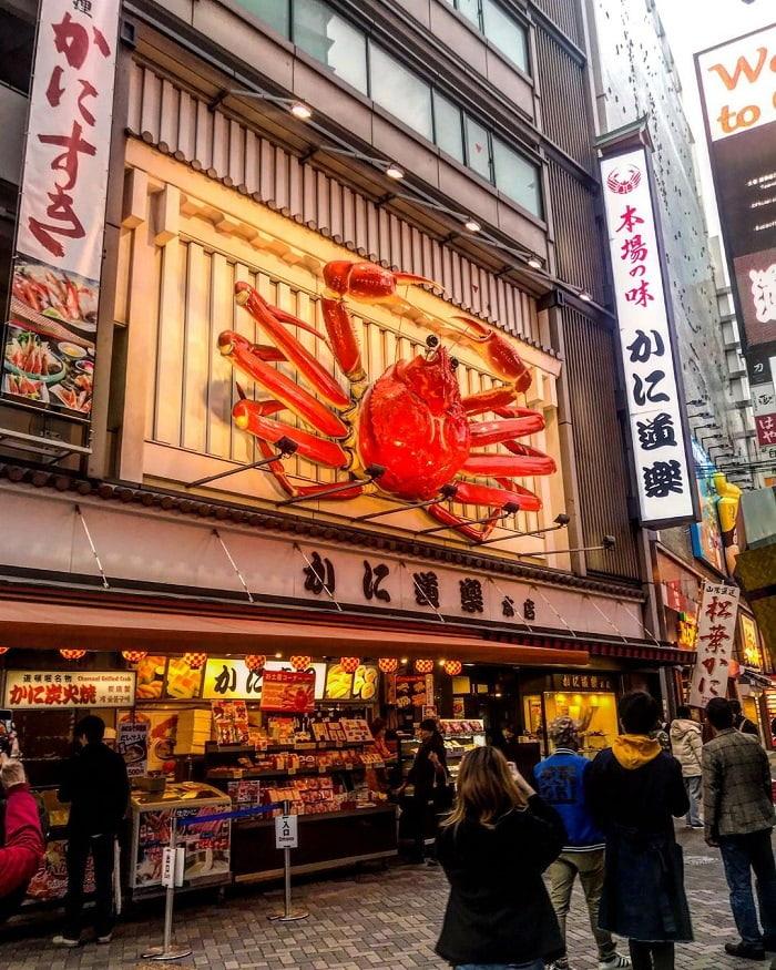 trải nghiệm mùa đông Nhật Bản - ăn cua nhà hàng KaniDouraku