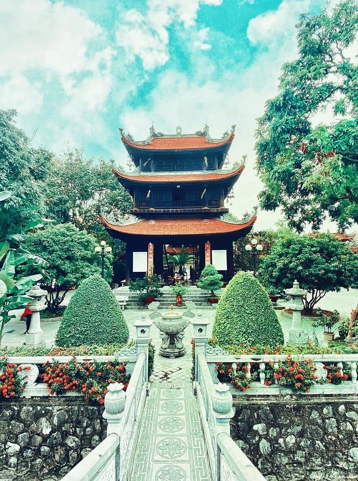 Tower garden - a sacred work at Pho Chieu Pagoda