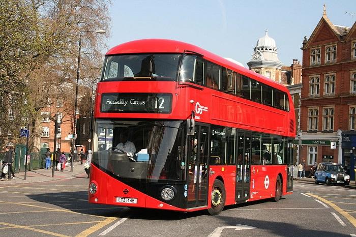 London double-decker bus - commuting on arrival in London