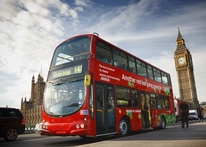 London double-decker bus - means of transport in the UK