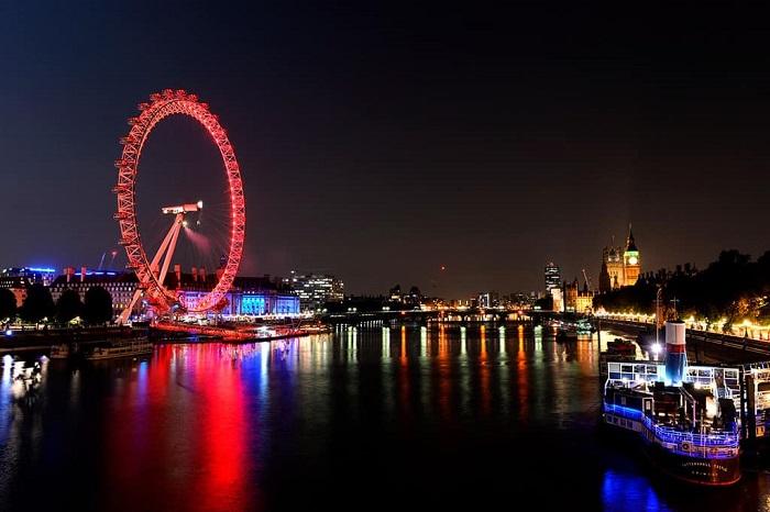 London double-decker bus - giant ferris wheel
