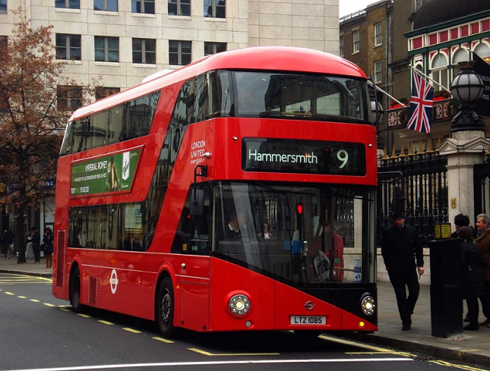 London double-decker bus - the symbol of the land of fog