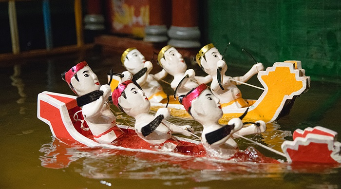 See water puppetry at Homemade bean curd