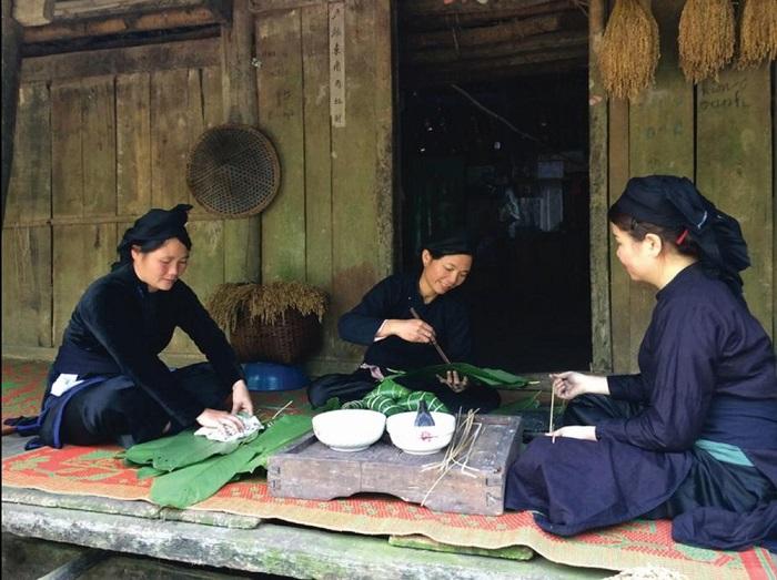 bánh chưng của người dân tộc vùng cao Lạng Sơn