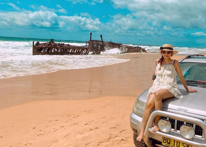 Vẻ đẹp siêu thực của hòn đảo cát lớn nhất thế giới ở Queensland