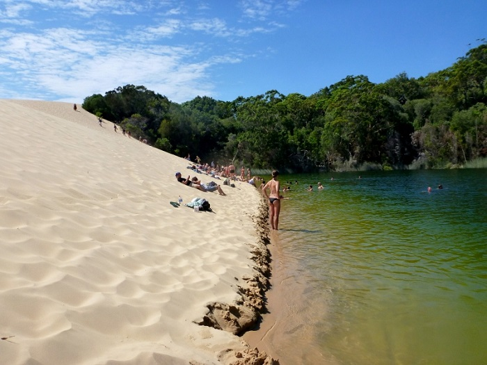 Surreal beauty of the world's largest sand island in Queensland
