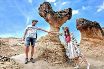 Cùng check - in sống ảo ở công viên địa chất Dã Liễu Đài Loan