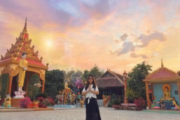 Say mê kiến trúc Khmer ấn tượng của chùa Xiêm Cán Bạc Liêu