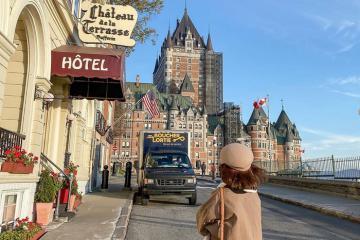 Cận cảnh khách sạn lâu đài cổ đẹp ngoạn mục ở thành phố Quebec