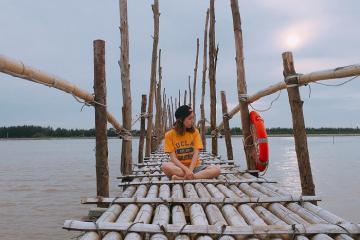 Chiến 'cạn pin' tại khu du lịch Cồn Đen Thái Bình