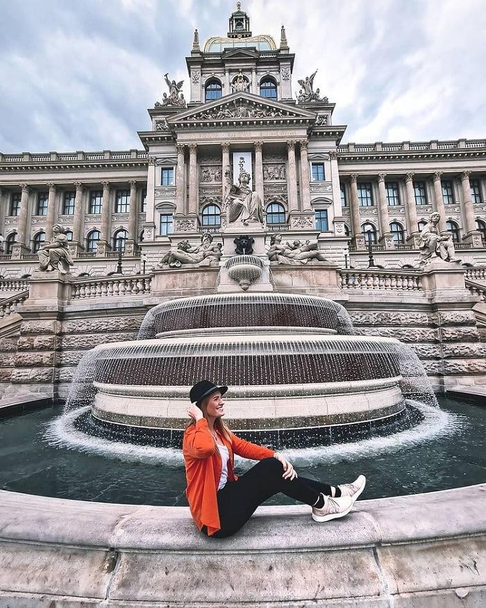 vòi phun nước - công trình đẹp ở bảo tàng Quốc gia Séc