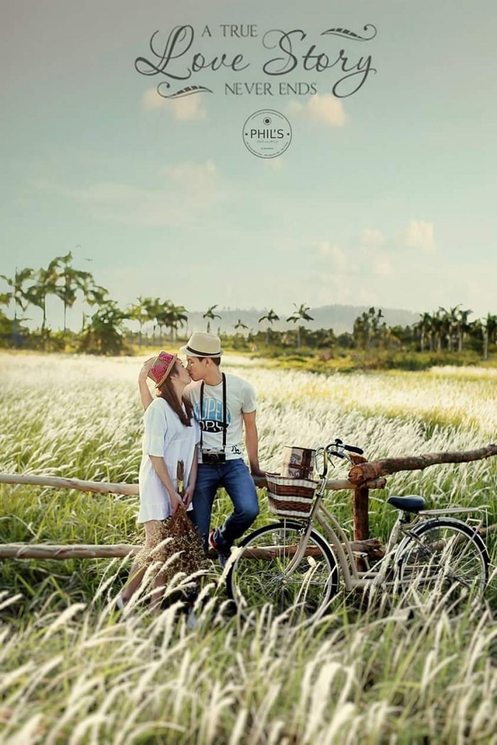 grassy studio - beautiful wedding photography spot in Hai Phong makes couples fall in love