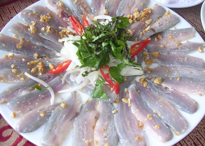 Specialties herring salad Phu Quoc - famously delicious
