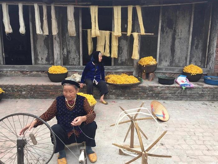 địa điểm chụp ảnh đẹp ở Nam Định - làng tơ Cổ Chất Nam Định
