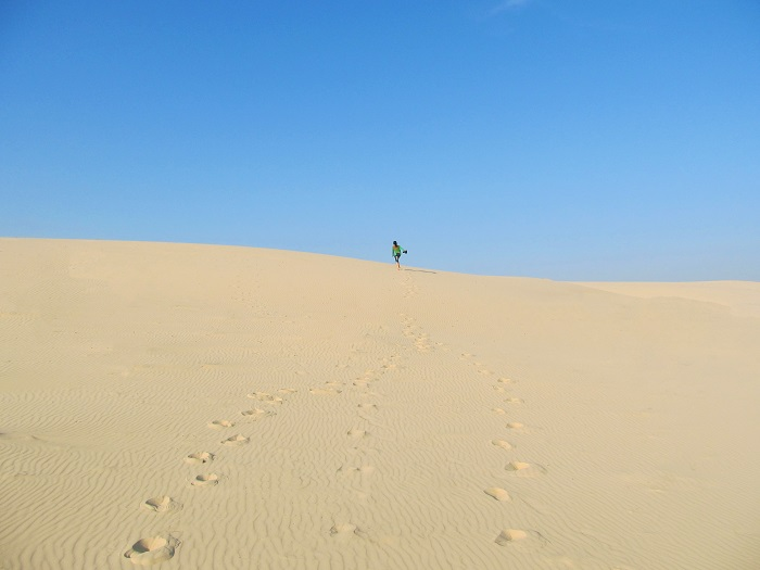 Đồi cát vàng Nhĩ Hạ - đồi cát nổi tiếng ở Quảng Trị