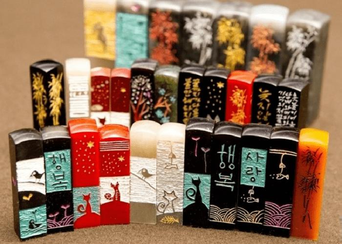 du lịch Hàn Quốc mua gì làm quà - con dấu