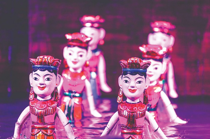 Dao Ngoc water puppet theater - learn history