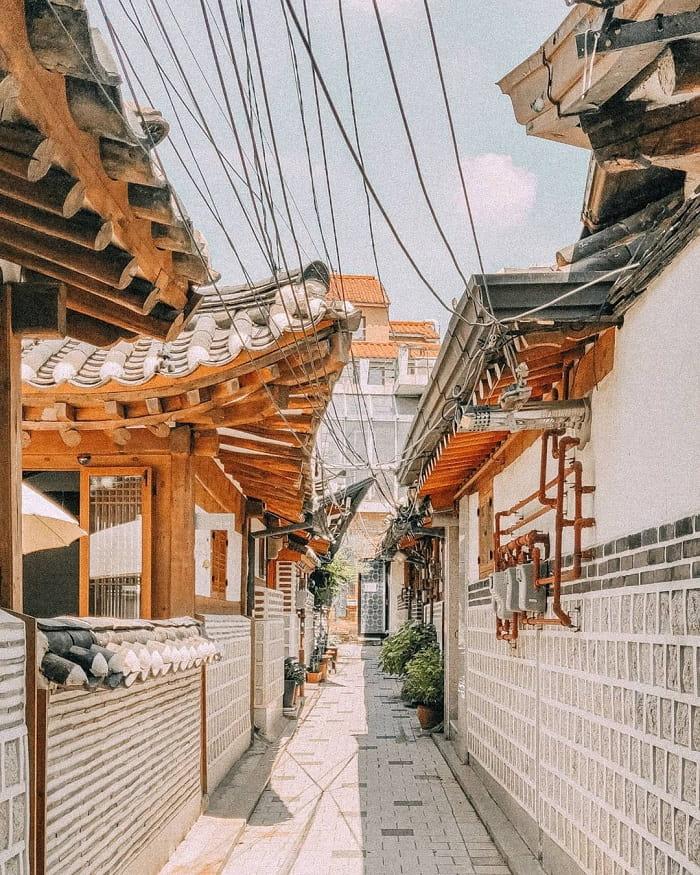 phố cổ Insadong Seoul - nhà hanok