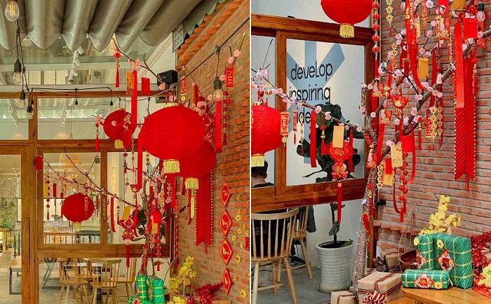 Những quán cafe trang trí Tết ở Sài Gòn - In Fact Coffee Saigon