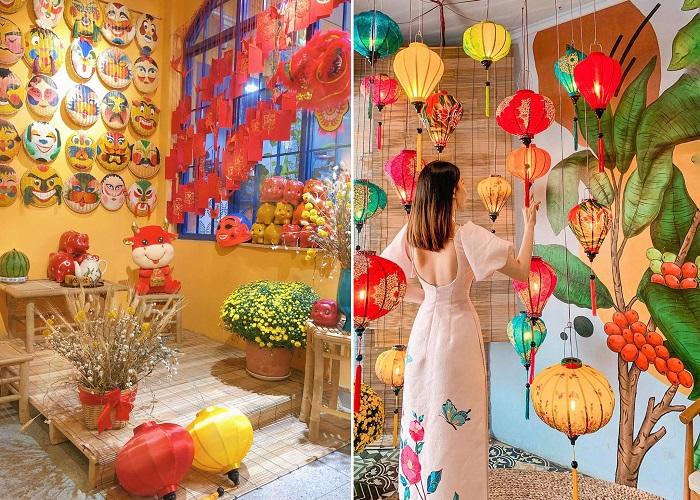 Những quán cafe trang trí Tết ở Sài Gòn - Izi Coffee