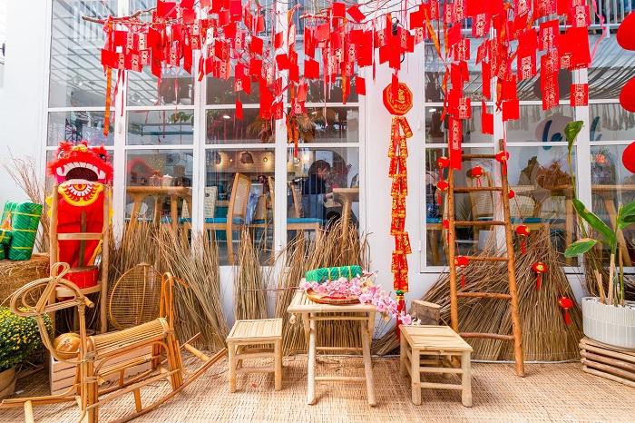 Những quán cafe trang trí Tết ở Sài Gòn - Le Ciel Café