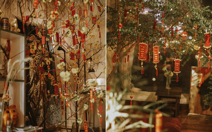 Những quán cafe trang trí Tết ở Sài Gòn - Mơ đi Hội