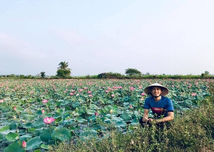 hồ sen - nét thơ mộng nơi Hồ Bàu Ngừa