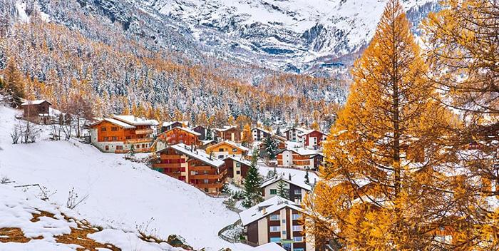 Mùa thu đẹp nao lòng ở Zermatt.