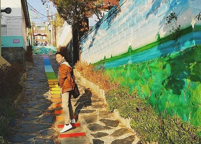 Ngẩn ngơ trước vẻ đẹp của làng bích họa Songwol-dong Incheon Hàn Quốc