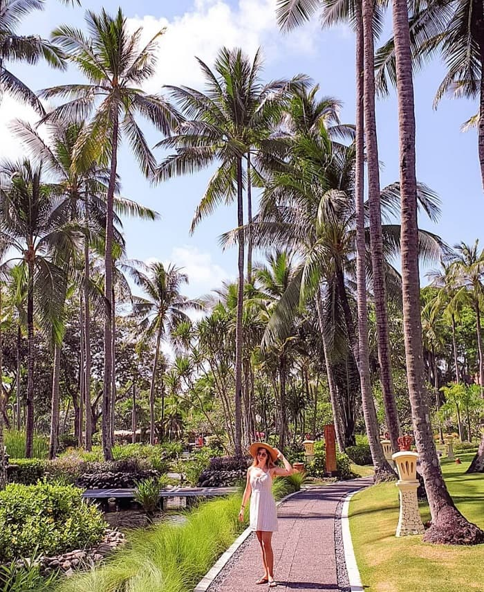 The beauty of resort paradise Nusa Dua Bali