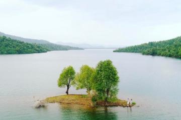 Bức tranh sơn thủy tại hồ Phú Ninh Quảng Nam