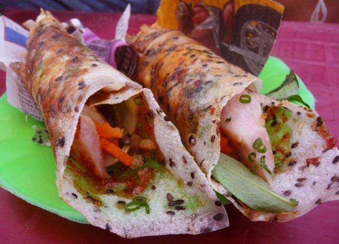 Bánh tráng cuốn dẻo - Món ăn vặt ở Phan Thiết