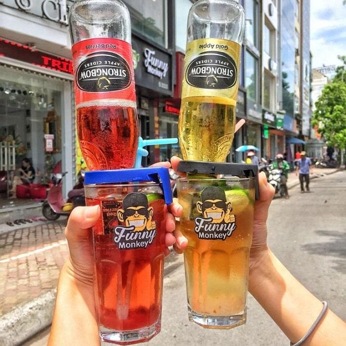Trongbow úp ngược là một trong những thức đồ uống giải nhiệt mùa hè ở Hà Nội