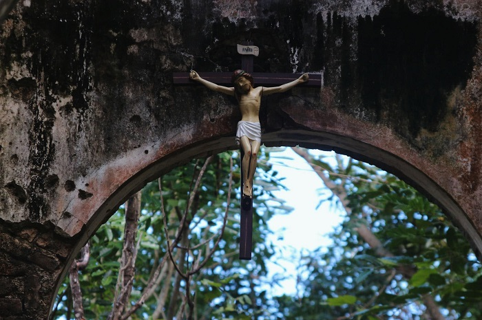 The sour statue of Giesu Catholic H'Bau Gia Lai