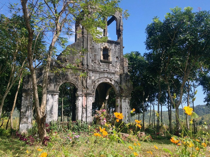 The scene of H'Bau Gia Lai church