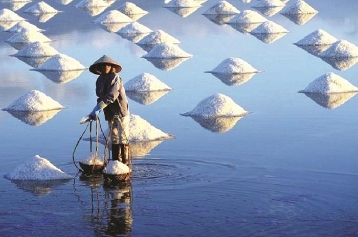 Phuong Cuu salt field has become a new tourist destination of Ninh Thuan