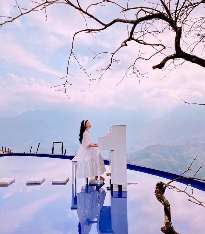 hồ bơi vô cực - điểm chẹc in hấp dẫn tại Điểm sống ảo mới ở Sapa - Moana Sapa