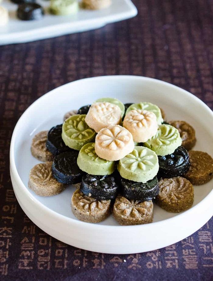 món tráng miệng Hàn Quốc - bánh Dasik