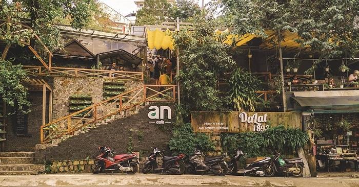 quán cafe cho cặp đôi ở Đà Lạt - An Cafe xanh mát