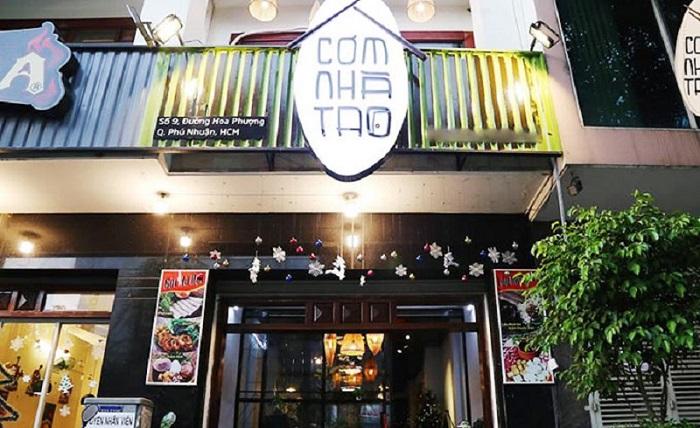 quán ăn món Bắc ở Sài Gòn - quán Cơm Nhà Tao