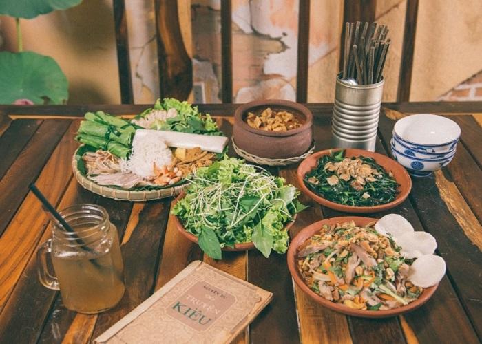 quán ăn món Bắc ở Sài Gòn - quán Cơm Xưa thực đơn