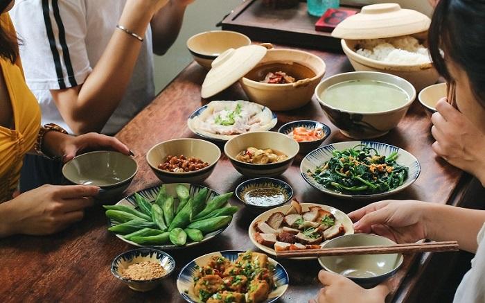 quán ăn món Bắc ở Sài Gòn - quán Hương Xưa thực đơn