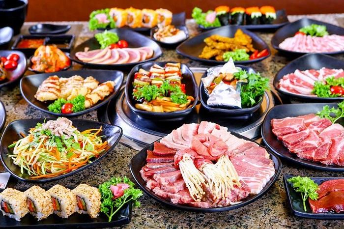 quán nướng ngon ở Sài Gòn - Nhà hàng nướng Barbecue Garden thực đơn