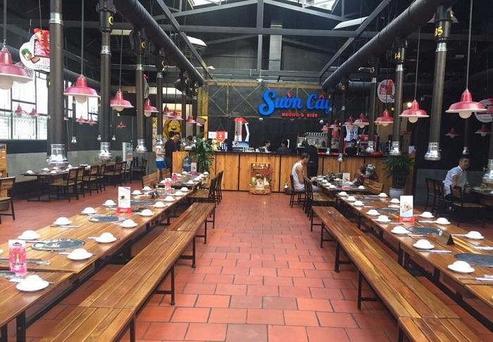 quán nướng ngon ở Sài Gòn - Sườn Cây Nướng