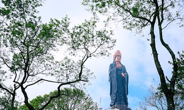 Visit the statue of Buddha Ba Tay Bon Da Son - majestic view