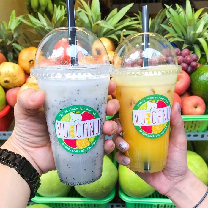 Nước ép hoa quả là một trong những thức đồ uống giải nhiệt mùa hè ở Hà Nội