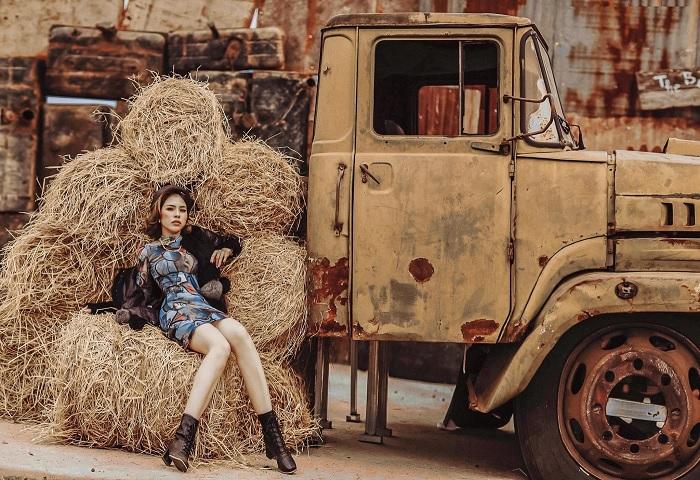 xe tải cũ - tiểu cảnh độc tại Khu dã ngoại Lee's Hillside